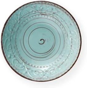 Farfurie din ceramică Brandani Serendipity, ⌀ 20 cm, turcoaz