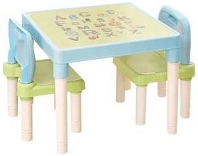 Set pentru copii 1 + 2 albastru / verde / alb BALTO