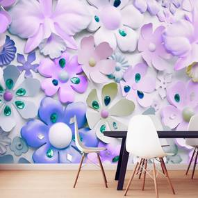Fototapet Bimago - Purple Sweetness + Adeziv gratuit 200x140 cm