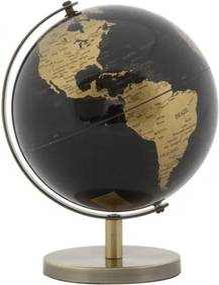 Glob pamantesc din plastic si metal Mapamond Small Alama, Ø13xH17 cm