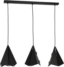 Lampa suspendata CONALL 3xE27/60W negru