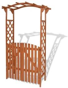 pergolă de grădină cu portiță, lemn masiv, 120 x 60 x 205 cm