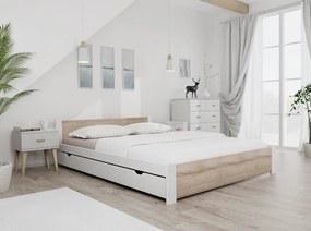 Maxi Drew Pat Ikaros, alb 160x200 cm Lamele: Fără lamele, Saltele: Cu saltele Coco Maxi 23 cm