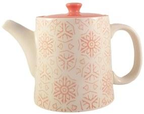 Ceainic French Clasic  din Ceramica, Orange, 700 ml