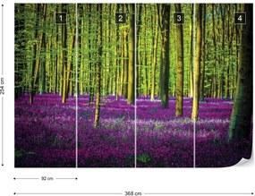 Fototapet GLIX - Purple Forest Trees + adeziv GRATUIT Tapet nețesute - 254x184 cm