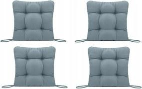 Set Perne decorative pentru scaun de bucatarie sau terasa, dimensiuni 40x40cm, culoare Gri, 4 bucati