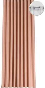Draperie cu inele Segovia roz piersic 140x245 cm