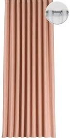 Draperie cu inele Segovia roz piersic 250x245 cm