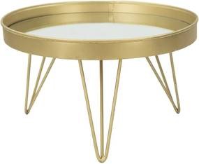 Măsuță pentru servire Mauro Ferretti, ⌀ 31 cm, auriu