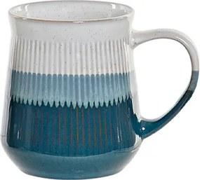 Cana Lines din ceramica alba cu albastru 12 cm