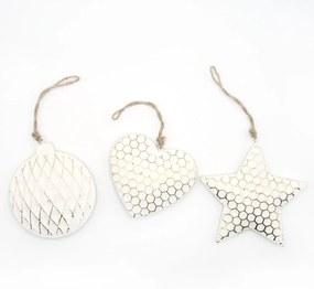 Ornament pentru bradul de Craciun inima/stea/ glob