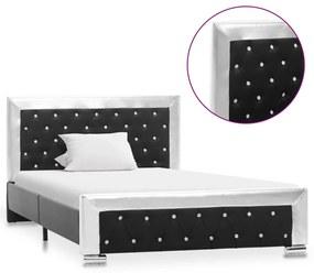 286795 vidaXL Cadru de pat, negru, 120 x 200 cm, piele ecologică