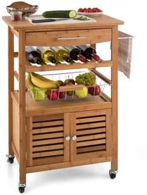 Klarstein Louisiana bucătărie cărucior Carucior 4 etaje Bamboo