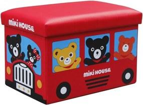 Taburet cu spatiu depozitare pentru copii,48 x 32 x 32 cm, rosu