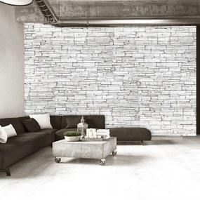 Fototapet Bimago - White Brick + Adeziv gratuit 250x175 cm