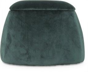 Puf DOME Verde Inchis - Catifea Verde Diametru (56 cm) x Inaltime (40 cm) x Latime (40 cm)