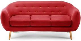 Canapea pentru 3 persoane Constellation, roșu/ portocaliu/ natural