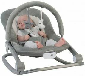 BO Jungle - Balansoar cu vibratii Gri pentru bebelusi cu arcada jucarii