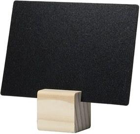 Set 6 table de scris Securit Tag A7 9x10,5x0,3cm cu baza de lemn, include marker creta, Teak