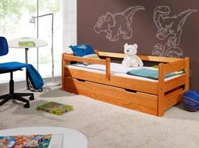 Patul pentru copil cu șină de siguranță - Alder 160x70 cm anin pat fără spațiu de depozitare