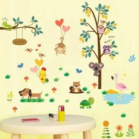 Sticker perete Gradinita cu Animale
