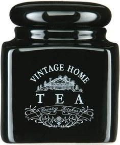 Recipient ceramică ceai Premier Housewares Vintage Home, negru