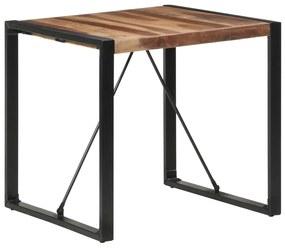 321602 vidaXL Masă de sufragerie 80x80x75 cm, lemn masiv cu finisaj sheesham
