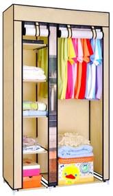 Dulap textil pentru haine, 100x174 cm, Crem