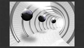 Fototapet Bimago - Futuristic Tunnel + Adeziv gratuit 300x210 cm