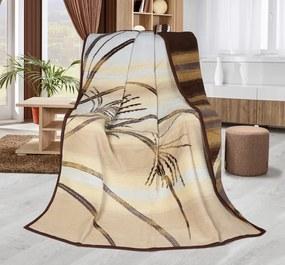 Pătură Karmela plus Iederă, bej, 150 x 200 cm