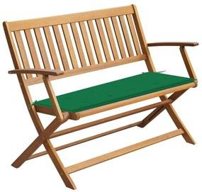 3064244 vidaXL Bancă de grădină cu pernă, 120 cm, lemn masiv de acacia