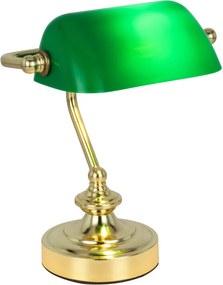 Globo 24917 Lămpi de birou auriu verde 1 x E14 max. 40W 24 x 19 x 16,5 cm