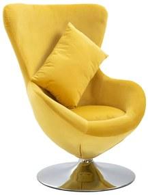 248468 vidaXL Scaun ou rotativ, cu pernă, galben, catifea