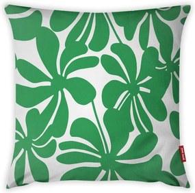 Față de pernă Vitaus Jungle Paradiso, 43 x 43 cm, alb - verde