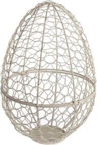 Decorațiune din metal în formă de ou Dakls Easter Egg, înălțime 26 cm