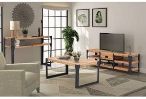 274708 vidaXL Set mobilier de sufragerie, 3 piese, lemn masiv de acacia