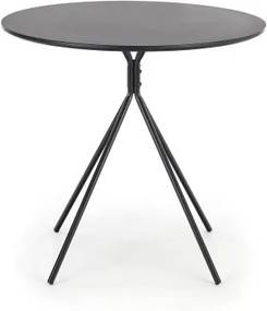 Masa din MDF si metal Fondi Black, Ø80xH75 cm