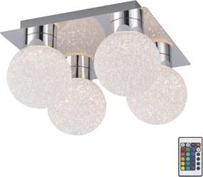 Leuchten Direkt - Plafonieră dimmabilă LED RGB MIKO 4xLED/3,2W/230V + control la distanță