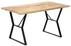 247947 vidaXL Masă de bucătărie, 140 x 80 x 76 cm, lemn masiv de mango