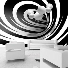 Fototapet Bimago - Twisted In Black & White + Adeziv gratuit 250x175 cm