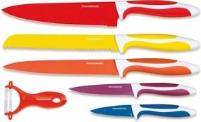 Set 5 cuțite și curățător legume din oțel inoxidabil InnovaGoods Ceramic