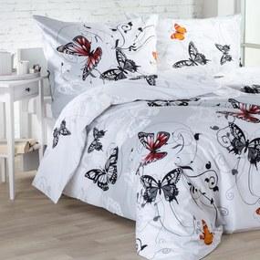 Lenjerie de pat din bumbac Butterfly lungime standard