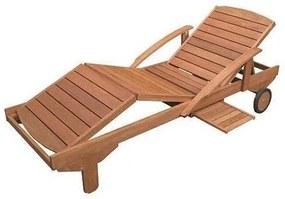 Sezlong pentru gradina,lemn masiv, 195x70x33/74 cm
