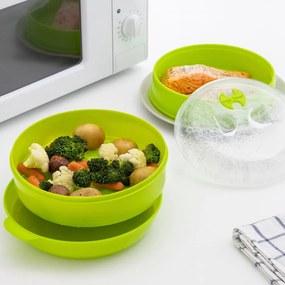 Set recipient dublu pentru cuptorul cu microunde InnovaGoods