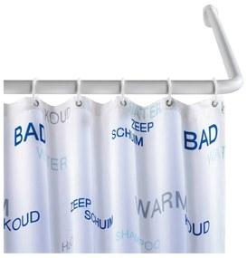 Suport universal pe colț pentru perdea duș Wenko, ø 2 cm, alb