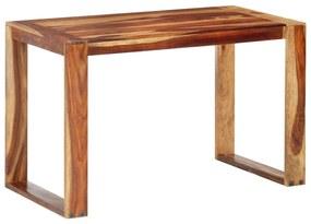286355 vidaXL Masă de bucătărie, 120 x 60 x 76 cm, lemn masiv de sheesham