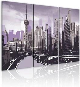 Tablou - Bright violet Shanghai 60x40 cm