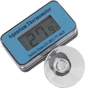Termometru digital submersibil pentru acvariu, LCD, ventuza