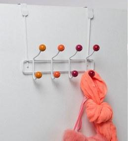 Cuier cu 8 cârlige Compactor Colorful, portocaliu
