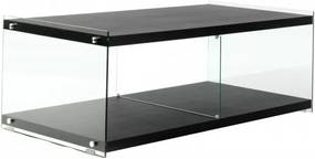 Comoda TV din sticla temperata Elementary neagra 120 cm
